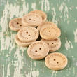 """Handmade with love"" Wood Buttons"