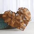 Natural Grapevine Heart with Burlap