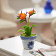 Dollhouse Miniature Bird of Paradise Potted Flower