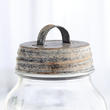 Rustic White-Washed Mason Jar Lid with Handle