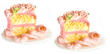 Dollhouse Miniature Pink Cake Servings
