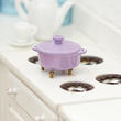 Dollhouse Miniature Purple Stock Pot