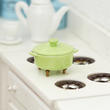Dollhouse Miniature Green Stock Pot