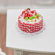 Dollhouse Miniature Candy Cane Christmas Cake