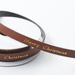 Merry Christmas Faux Leather Ribbon