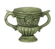 Dollhouse Miniature Green Urn with Handles