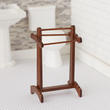 Dollhouse Miniature Walnut Towel Rack