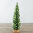 Green Decorated Bottle Brush Christmas Tree