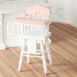 Dollhouse Miniature Pink Trimmed High Chair