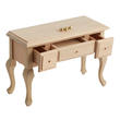 Dollhouse Miniature Unfinished 3-Drawer Table