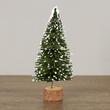 Miniature Frosted Green Bottle Brush Tree - True Vintage