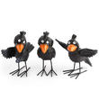 Bulk Case of 18 Standing Resin Crow Set