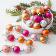 Pink and Orange Bead with Tinsel Garland
