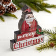"""Merry Christmas"" Santa Tabletop Sign"