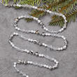 Clear, Silver and Pearl Teardrop Garland