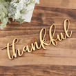"Unfinished Wood ""thankful"" Word Sign"