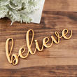 "Unfinished Wood ""believe"" Word Cutout"
