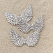 Holographic Silver Embossed Angel Wings