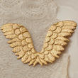 Holographic Gold Embossed Angel Wing