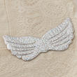 Holographic Silver Embossed Angel Wing