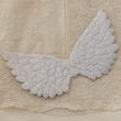 Light Silver Embossed Angel Wing