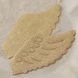 Light Gold Embossed Angel Wings
