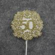 Golden 50th Anniversary Floral Picks