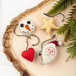 Plush Hand-Stitched Assorted Christmas Ornaments