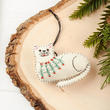 Plush Hand-Stitched Cat Christmas Ornament