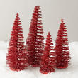 Miniature Red Glitter Trees