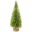 Bulk Case of 144 Frosted Lime Green Bottle Brush Tree
