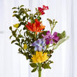 Artificial Assorted Daisies and Flocked Foliage Spray