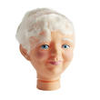 Mrs. Claus or Grandma Vinyl Doll Head - True Vintage