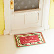 Dollhouse Miniature Merry Christmas Door Mat