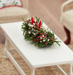 Miniature Holiday Pine Greenery Accent