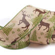 Woodland Deer Wired Ribbon