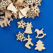 Laser Cut Unfinished Wood Christmas Cutouts