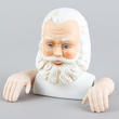 Porcelain Traditional Santa Head and Hands Set - True Vintage