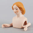 Porcelain Red Hair Lady Head and Hands - True Vintage