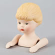 Porcelain Ponytail Girl Doll Head and Hands - True Vintage
