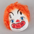 Vinyl Clown Face with Synthetic Hair - True Vintage
