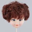 Brunette Girl Doll Head Pick - True Vintage