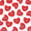 Opaque Red Heart Pony Beads