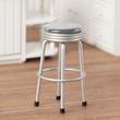 Dollhouse Miniature 1950's Style Silver Stool