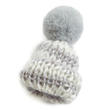 Grey White Mini Knit Hats