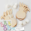 Unfinished Wood Floppy Ear & Fluffy Tail Bunny Rabbit Kit