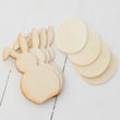 Unfinished Wood Egg and Floppy Ear Bunny Cutouts