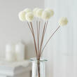 Artificial White Seeded Floral Pod Picks