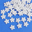 White Snowflake Button Embellishments