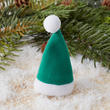 Miniature Green Christmas Hat